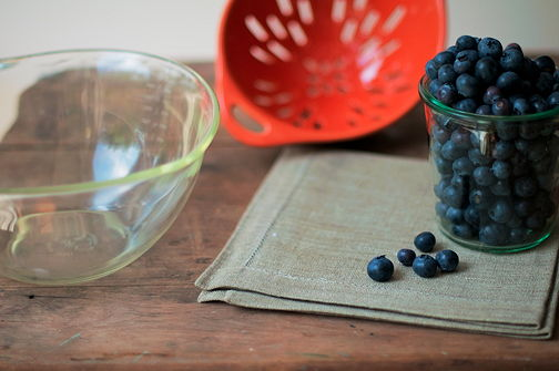 Blueberry sieve bowl
