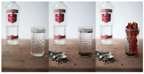 Bacon vodka triptych small